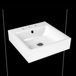Umývadlo Kaldewei Puro 3163 46x46 cm alpská biela tri otvory pre batériu 901306033001