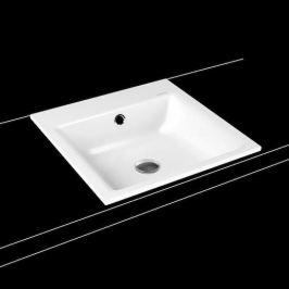 Zápustné umývadlo Kaldewei Puro 3150 46x46 cm alpská biela bez otvoru pre batériu 900006003001