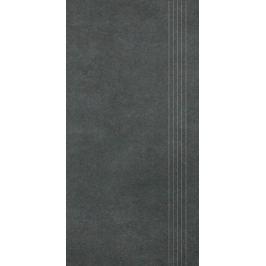 Schodovka Rako Extra čierna 30x60 cm mat DCPSE725.1