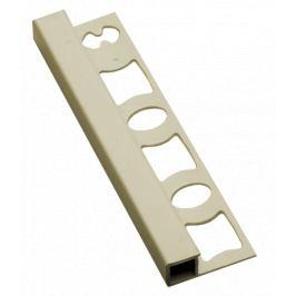 Profil-EU Lišta ukončovacia hranatá PVC jazmín, 8 mm, 250 cm LH825020