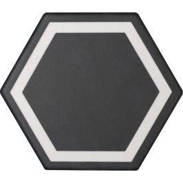 Dlažba Tonalite Examatt nero 15x17 cm mat EXMDEXANE