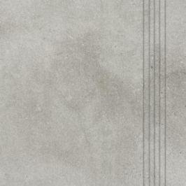 Schodovka Rako Form šedá 33x33 cm reliéfní DCP3B696.1