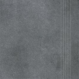 Schodovka Rako Form tmavo šedá 33x33 cm reliéfní DCP3B697.1