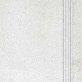 Schodovka Rako Form svetlo šedá 33x33 cm reliéfní DCP3B695.1