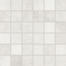Mozaika Rako Form svetlo šedá 30x30 cm mat DDR05695.1