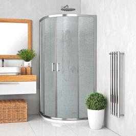Sprchový kút Roltechnik štvrťkruh 90 cm, chróm profil, univerzálny 555-9000000-00-11