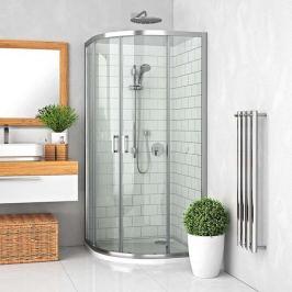Sprchový kút Roltechnik štvrťkruh 80 cm, chróm profil, univerzálny 555-8000000-00-02