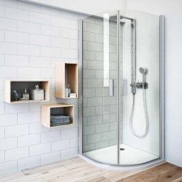 Sprchový kút Roltechnik štvrťkruh 100 cm, satin profil, univerzálny 722-1000000-01-02