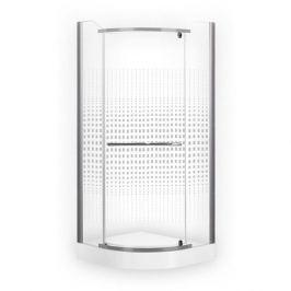 Sprchový kút štvrťkruh 80x80x195 cm Roth Projektová řešení chróm matný N0128