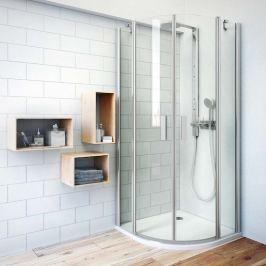 Sprchový kút Roltechnik štvrťkruh 80 cm, satin profil, univerzálny 723-8000000-01-02