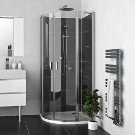 Sprchový kút Roltechnik štvrťkruh 100 cm, chróm profil, univerzálny 225-1000000-00-02