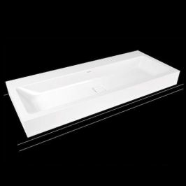 Umývadlo Kaldewei Cono 3091 120x50 cm alpská biela bez otvoru pre batériu, bez prepadu 902706003001