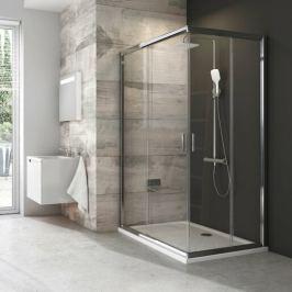 Sprchový kút Ravak Blix štvorec 90 cm, sklo číre, satin profil BLRV2K90TS