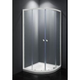 Sprchový kút Multi Basic štvrťkruh 80 cm, R 550, nepriehľadné sklo, biely profil, univerzálny SIKOMUS80CH0