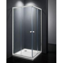 Sprchový kút Multi Basic štvorec 80 cm, nepriehľadné sklo, biely profil, univerzálny SIKOMUQ80CH0