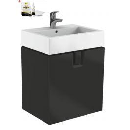Kúpeľňová skrinka s umývadlom Kolo Twins 60x57 cm čierna mat SIKONKOTW601CM