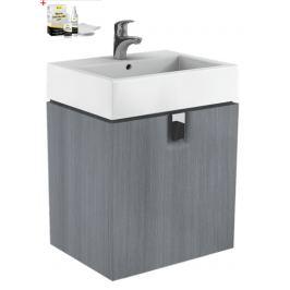 Kúpeľňová skrinka s umývadlom Kolo Twins 60x70 cm v prevedení grafit strieborný SIKONKOTW601SG