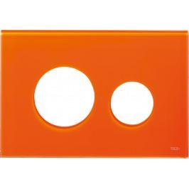 Kryt ovládacieho tlačidla Tece Loop sklo oranžová 9240673