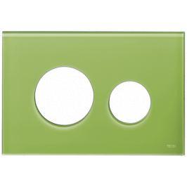 Kryt ovládacieho tlačidla Tece Loop sklo v zelenej farbe 9240685
