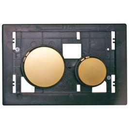 Rámček s tlačidlami Tece Loop z plastu zlatá 9240668