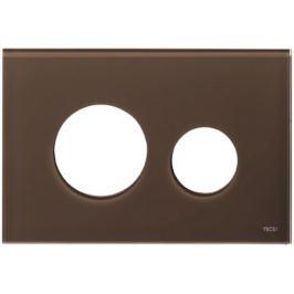 Kryt ovládacieho tlačidla Tece Loop sklo kávovo hnedá 9240678