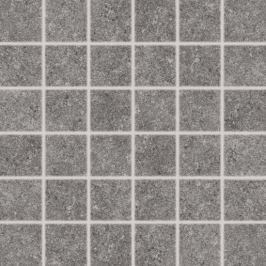 Mozaika Rako Rock tmavo šedá 30x30 cm mat DDM06636.1