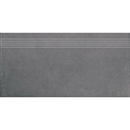 Schodovka Rako Clay šedá 30x60 cm, protišmyk, rektifikovaná DCPSE642.1