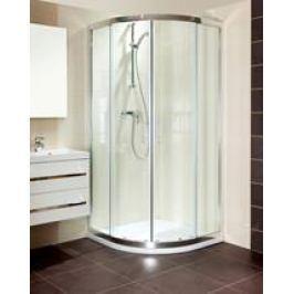 Sprchový kút Anima T-Silent štvrťkruh 100 cm, R 550, sklo číre, chróm profil TSIS100CRT