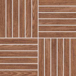 Mozaika Rako Wood hnedá 30x30 cm, mat, rektifikovaná DDV1V620.1