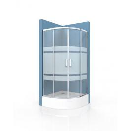Sprchový kút Siko Tex štvrťkruh 90 cm, R 550, sklo stripe, chróm profil, univerzálny SIKOTEXS90CRS170