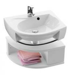 Skrinka pod umývadlo Ravak Rosa, biela SDUROSALBI