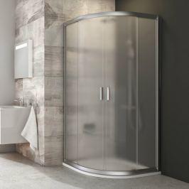 Sprchový kút Ravak Blix štvrťkruh 90 cm, R 500, nepriehľadné sklo, satin profil BLCP490GS