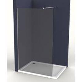 Pevná stena Anima Walk-in 110 cm, dymové sklo, chróm profil WI110KS