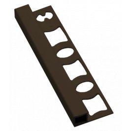 Profil-EU Lišta ukončovacia hranatá PVC tmavo hnedá, 10 mm, 250 cm LH10250H