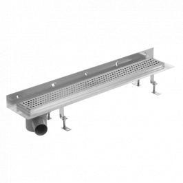 Sprchový žľab S-Line Klasik 80 cm nerez lesk čtverečky ZLAB80NRZ1LEM