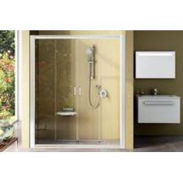 Sprchové dvere Ravak Rapier posuvné 190 cm, sklo číre, biely profil NRDP4190T0