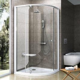 Sprchový kút Ravak Pivot štvrťkruh 100 cm, R 500, sklo číre, biely profil PSKK3100T0
