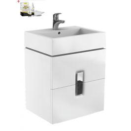 Skrinka s umývadlom Kolo Twins, biela lesklá SIKONKOTW602BL