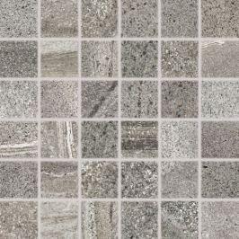 Mozaika Rako Random tmavo šedá 30x30 cm, mat, rektifikovaná DDM06679.1
