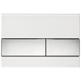 Ovládacie tlačidlo Tece Square sklo v bielej farbe lesk 9240802