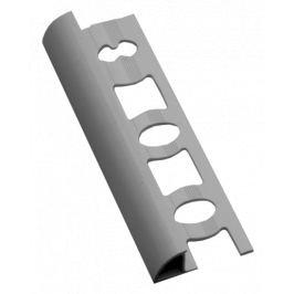 Profil-EU Lišta ukončovacia oblá PVC svetlo šedá, 8 mm, 250 cm L82503