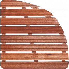 Aris Sprchová rohož-drevo štvrťkruh 64x64x4cm ROHOZ80S