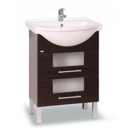 Kúpeľňová skrinka s umývadlom Naturel Wenge 61x50 cm wenge WENGE60DV