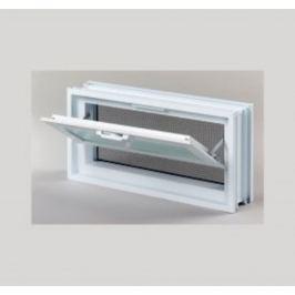Vetracie okno Glassblocks biela 38x19 cm plast GBMR3819
