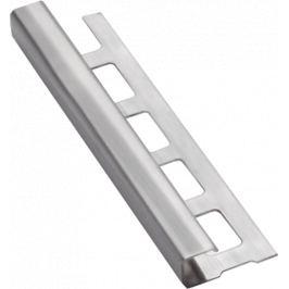 Havos Lišta ukončovacia hranatá kartáčovaná nerez, 10 mm, 250 cm NRZHK10250