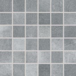 Mozaika Rako Rebel tmavo šedá 30x30 cm mat DDM06742.1