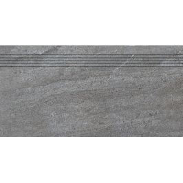 Schodovka Rako Quarzit tmavo šedá 30x60 cm mat DCPSE738.1