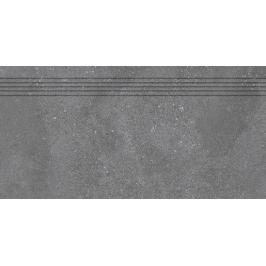 Schodovka Rako Betonico čierna 30x60 cm mat DCPSE792.1