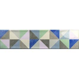Dekor Ribesalbes Ocean mix farieb Triangle 7,5x30 cm lesk OCEAN2718