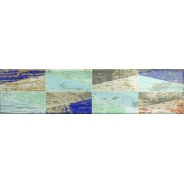 Dekor Ribesalbes Ocean mix farieb Wood 7,5x30 cm lesk OCEAN2720